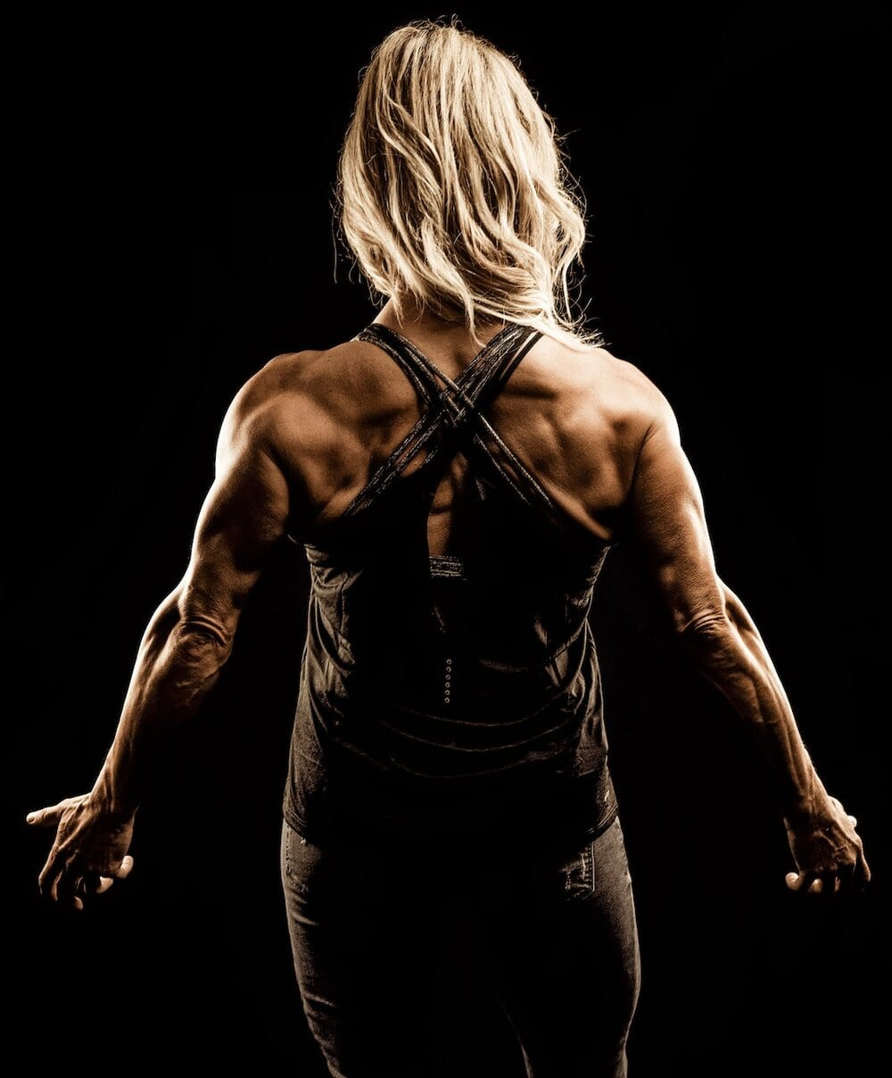 woman with great muscle tone